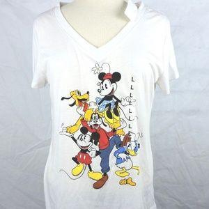 Disney Womens T Shirt Size Large Mickey Minnie